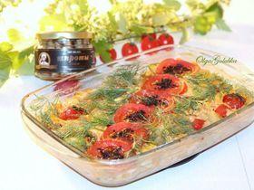 Запеканка с овощами и шпротами
