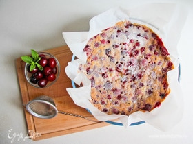 Вишневый пирог на растительном спреде