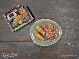 Сливочные котлеты с салатом «Коул слоу»