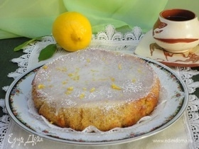 Лимонно-миндальный кекс