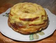 Яблочный тимбаль со сливочным кремом