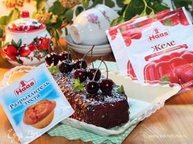 Торт с клубничным желе и шоколадом