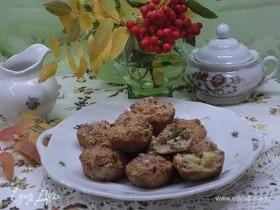 Кексы из овсяных отрубей с яблоками