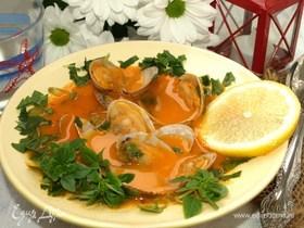 Томатный суп с вонголе