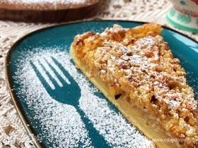 Яблочный пирог с лимоном и фундуком