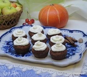 Тыквенные кексы с карамелью