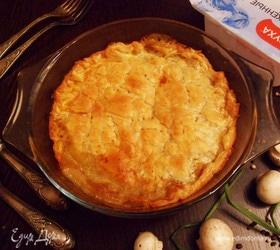 Валлийский пирог с курицей и грибами