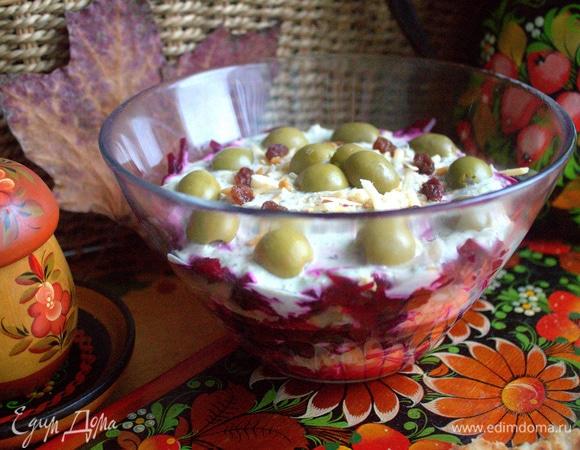 Cвекольно-сырный салат