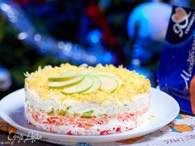 Легкий салат с крабовыми палочками