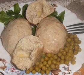 Свиные котлеты с куриной грудкой и сливочным маслом