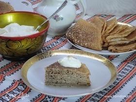 Блинница из гречнево-пшеничных сдобных блинов