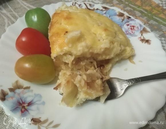 Запеканка из отварного картофеля с капустой