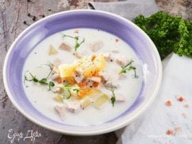 Сливочно-куриный суп