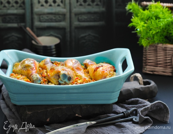 Гречка с курицей и овощами (2 в 1)