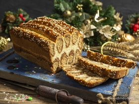 Леопардовый хлеб с шоколадом и корицей