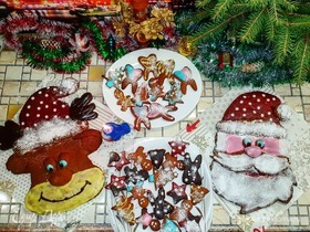 Рождественские имбирные пряники