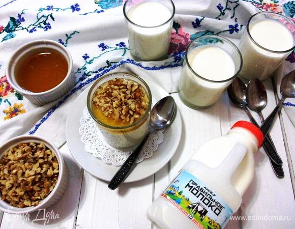 Домашний йогурт с медом и орехами