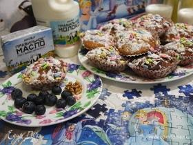 Творожные кексы с грецкими орехами