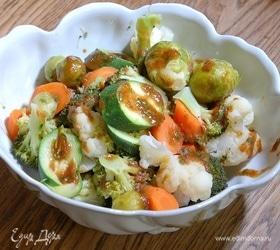Овощи на пару под мисо-соусом