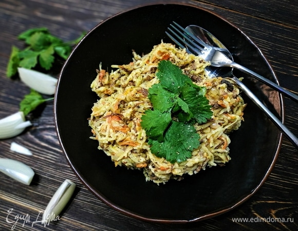 Салат с зеленой редькой
