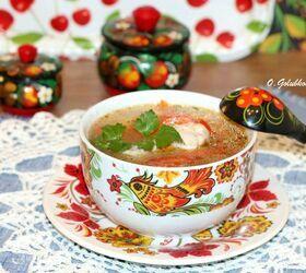 Куриный суп с овощами и фузилли в СВЧ-печи