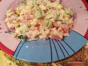 Салат из крабовых палочек и болгарского перца