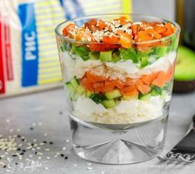 Суши-салат в стакане