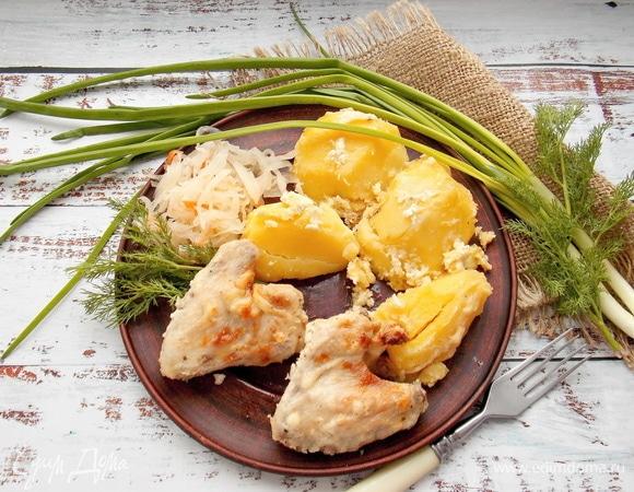 Картошка с крыльями, приготовленная в микроволновой печи
