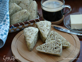 Хлеб с прованскими травами и семенами льна