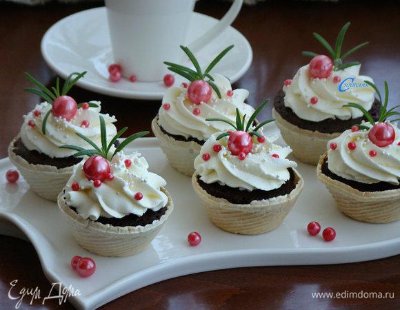 Шоколадные капкейки в СВЧ-печи