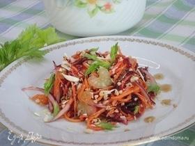 Овощной салат с пророщенной гречкой