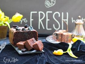 Бархатный шоколадный кекс с черносливом
