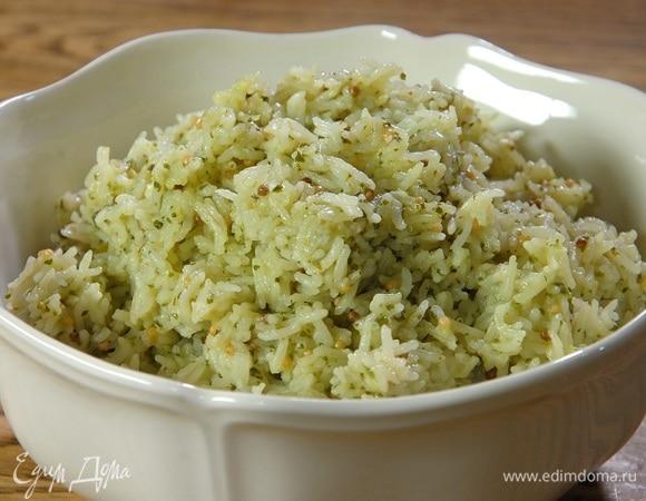 Рис с кинзой, каффир-лаймом и перцем чили