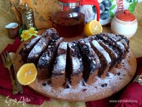 Банановый кекс с семечками и джемом
