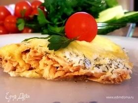 Филе горбуши под сыром