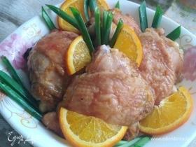 Куриные бедра в апельсинах