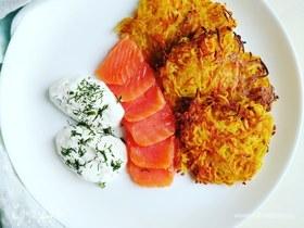 Картофельно-морковные оладьи