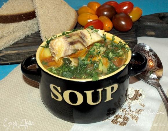 Овощной суп с треской