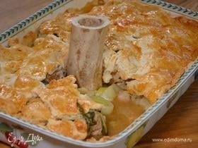 Слоеный пирог с курицей и цесаркой
