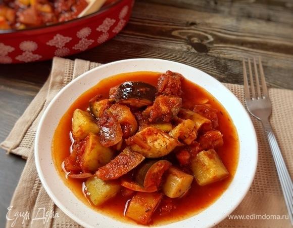 Овощи в томатном соусе