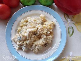 Картофельный салат с солеными огурцами