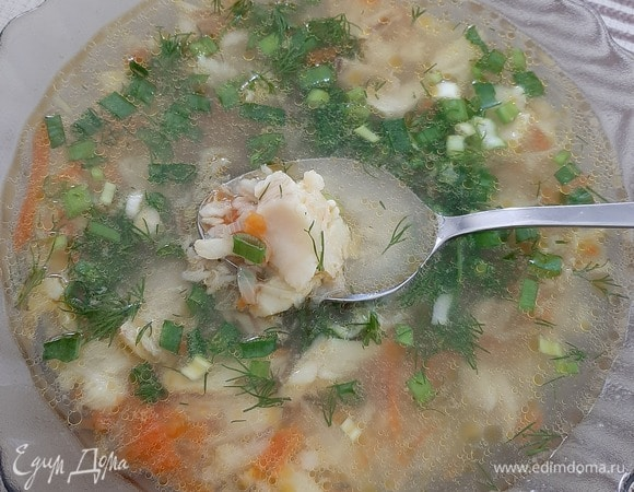 Быстрый суп из минтая