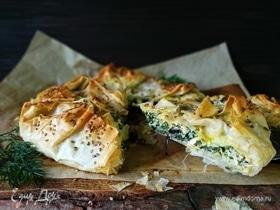 Спанакопита (греческий пирог со шпинатом)