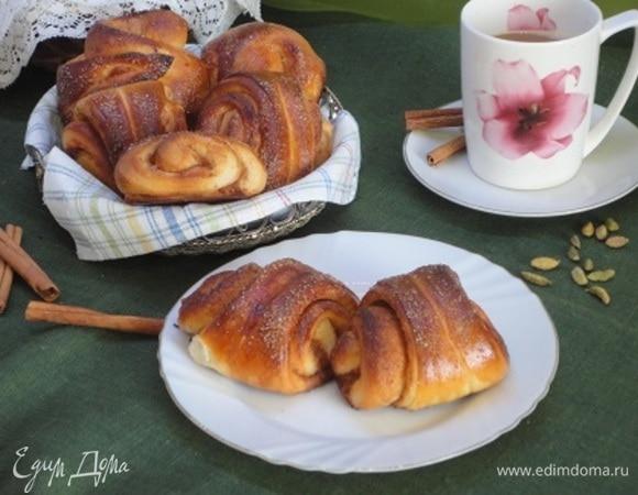 Финские булочки с корицей и кардамоном (Korvapuusti)