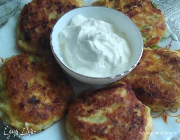 Сырники с кабачками и сыром