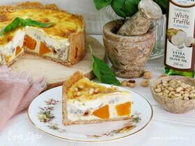 Тарт с тыквой и голубым сыром