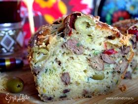 Кекс печеночный с оливками