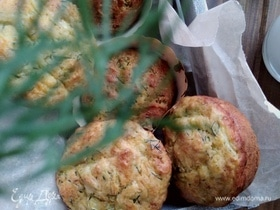 Закусочные кексы с кабачком и сыром