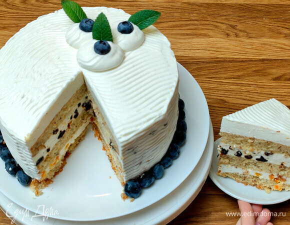 Торт с миндалем и сливочным суфле