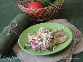Мясной салат «Пицунда»